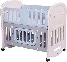 "JOYMOR 6-in-1 Baby Bed Crib with 2"" Mattress and Large Space Storage, Easily Converts to Toddler Bed Day Bed Playard or Ro..."