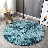 YSDS-JZ Runder Rutschfester, Flauschiger, Superweicher Teppich Ist Leicht Zu Reinigen, Geeignet Für Wohn- Und Schlafzimmerdekoration,120CM