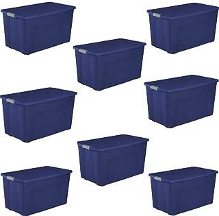 Sterilite 45 Gallon Wheeled Latch Tote- Stadium Blue, Case of 4 (2 PacK)