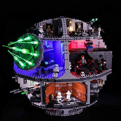 ADMLZQQ Kit di Illuminazione a LED USB Set per Kit di luci a LED Modello Morte Nera di Star Wars 10188 Lego (Modello Lego Non Incluso)