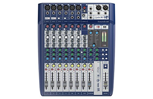 Soundcraft Mesa de mezcla analogica 10 canales con efectos, BPSCA...