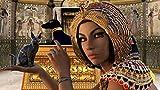 HQHff Egipto Reina Cleopatra Anubis Osiris Gato lapislázuli,Puzzles Adultos 1000 Piezas 75x50cm,3D Puzzles de Madera Adultos Regalo de Juguete Educativo para niños