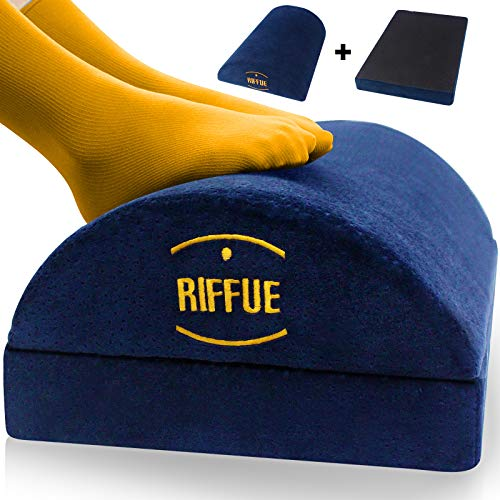 Adjustable Foot Rest Under Desk Non-Slip Half-Cylinder Footstool Footrest Ergonomic Soft Foam Velvet Footrest Cushion Reduces Pressure on Legs, Ideal for Airplane, Travel, Home and Office