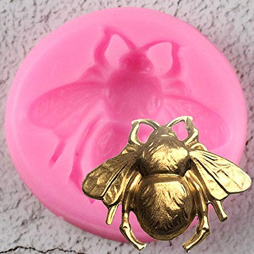 ZHQJY 3D Bumble Bee Cake Silicone Mold Candy Chocolate Clay Mould Kitchen Baking Cake Decorating Tools