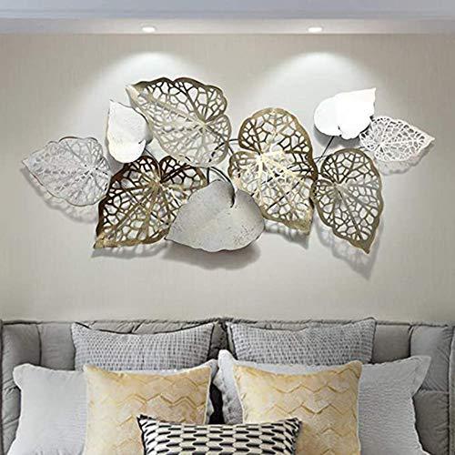 LHKAVE Metall Wanddeko,Metall Wanddekoration zum Aufhängen, Wandschmuck Metallbilder Wanddeko Wohnzimmer, 3D Metallwanddekoration Kunst Wandskulpturen Wohnkultur