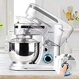 Duronic SM104 Elektrisch Küchenmaschine | Knetmaschine 1000W | 4 L Rührschüssel mit Spritzschutz | 6 Geschwindigkeiten und Pulsfunktion - 4