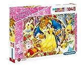Clementoni- Puzzle 104 Piezas Maxi La Bella y la Bestia (23745.6)