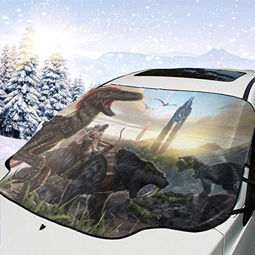 XIAODONG ARK Auto-Windschutzscheibenabdeckung, Frostschutz, Winterschutz, Autoscheibe, Schnee, EIS, Abdeckung mit Saugnäpfen, passend für Autos, SUV