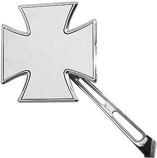 a forma di croce di Malta cromato ... Coppia specchietti retrovisori per moto Harley Davidson Sportster Dyna Softail