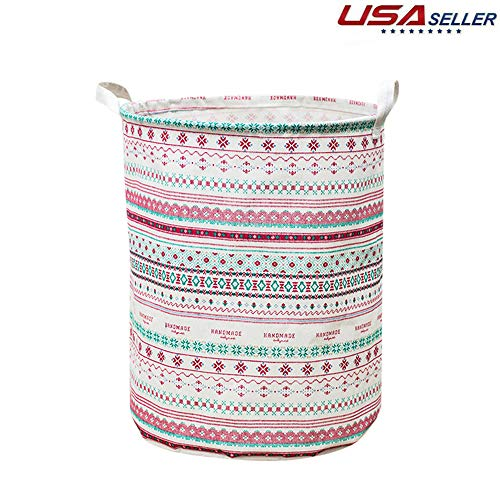 Laundry Hamper Clearance Snowfoller Laundry Basket Toy Storage Baskets Clothes Hamper Basket 42L Linen - US Made B