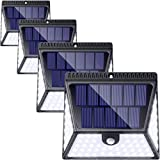 ZOOKKI Solar Lights Outdoor, 82LED 1640LM Solar Motion Sensor Lights, IP65 Waterproof Wireless Solar Lights with 270° Lighting Angle, Security Flood Light for Fence Door Patio Garden Deck, 4 Pack