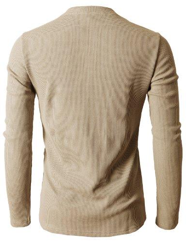 H2H - T-Shirt à Manches Longues - Homme - Beige - Medium