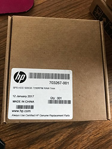 HP 500GB 7200RPM SATA Laptop 2.5' Hard Drive - 703267-001