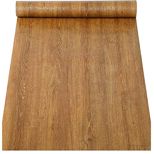 Self Adhesive Faux Wood Grain Vinyl Contact Paper Shelf Liner for Kitchen Cabinets Shelves Dresser Drawer Table Desk Furniture Walls Removable Waterproof 157x117 Inches