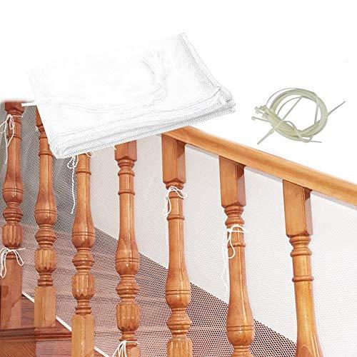 Starter Filet de Sécurité de la Balustrade, 3 Mètres épaissie Safe Rail Net Rampe D'escaliers Net Sécurité des Enfants Pet Toy Escaliers de Sécurité Protecteur pour Balcon et Stairway Deck.