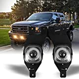 Fog Light for 01-04 Ford Super Duty F250 F350 F450 F550 w / Bulb, 01-04 OEM Ford Excursion, Pair of NIXON OFFROAD Bumper Driving Fog Light Lamps Assembly, Fog Lamp Replacement Clear Lens - H3 12V 55W