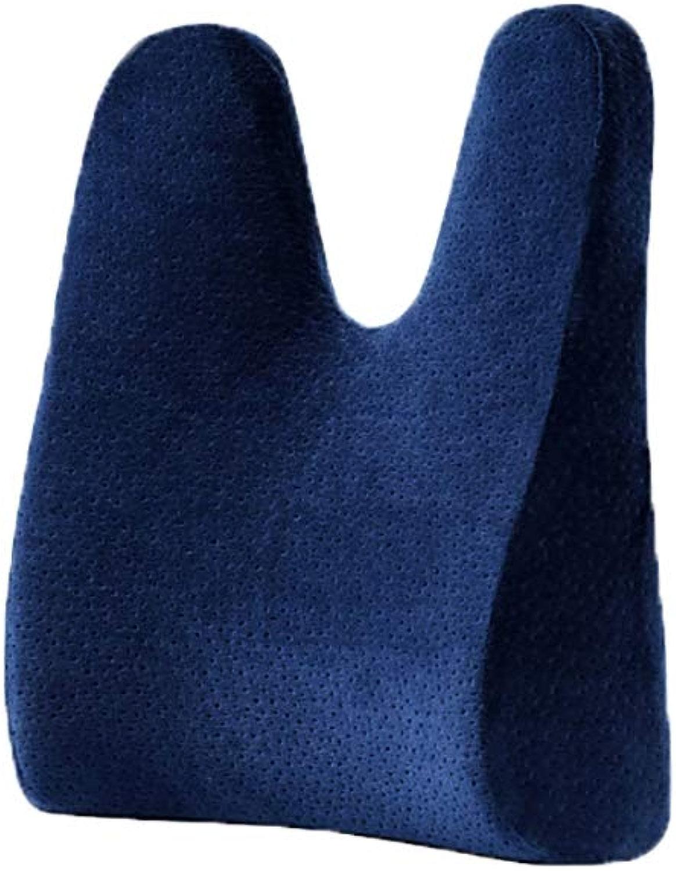 HAIYING Coussin De Taille Coussin De Bureau Coussin De Taille Soucravaten Lombaire Femmes Enceintes Dossier Lombaire Chaise De Voiture en Coton à Mémoire (Couleur   Bleu)