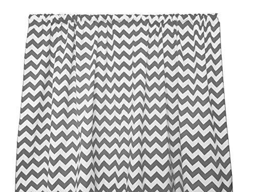 Zen Creative Designs Decorative Cotton Chevron Curtain Panel/Home Window Decor/Window Treatments/Chevron/Zig Zag/Waves (58 Inch x 36 Inch, Charcoal Grey)