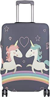 Unicorn Cartoon suitcase cover elastic suitcase cover zipper luggage case removable cleaning suitable for 22