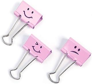 comprar comparacion Rapesco - Caja de 20 pinzas / clips de 19mm, hasta 75 hojas en varios emojis de color rosa.