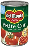 Del Monte Canned Petite Cut Diced Tomatoes, 14.5 Ounce (Pack of 12)