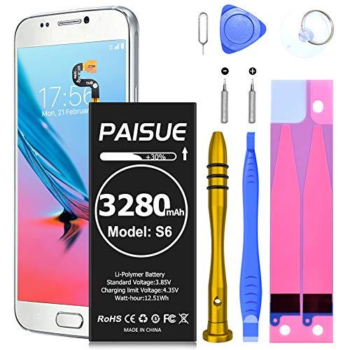 Batería Galaxy S6, [3280 mAh] polímero de litio de EB-BG920ABE, batería de repuesto para Samsung Galaxy S6 todos los modelos G920 con kit de herramientas de reparación(no para S6 Edge/Active)