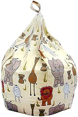 Lancashire Textiles Safari Style Imprimé Animal Grande pour Enfants Pouf Assise de Chaise–Expédié Entièrement Garni