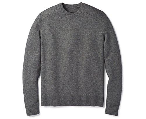 Smartwool Sparwood Crew Neck Sweater - Men's Medium Gray Donegal Large