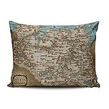 zedae The Elder Scrolls V Skyrim mapa personalizado fundas de almohada Royal decorativo funda de almohada Funda de almohada 20x 26pulgadas una cara