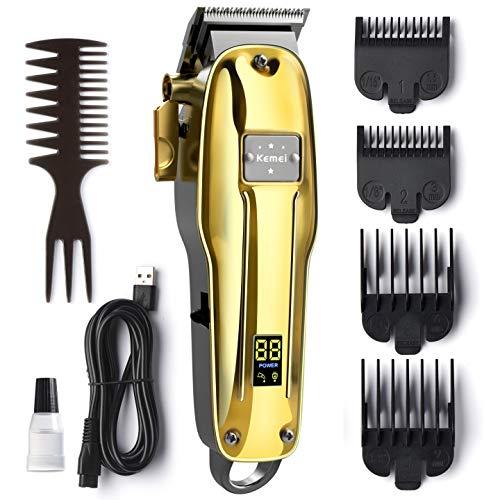Haarschneidemaschinen Profi, OriHea Haartrimmer Herren, Kabelloser Barttrimmer Herren Haarpflege-Satz mit LED-Anzeige, wiederaufladbarer 2200-mAh-Akku mit 3-Stunden Laufzeitd, Leise