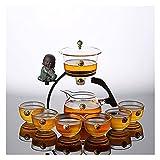 Conjunto de 9/10 Piezas de Conjunto de té de Cristal Perezoso semiautomático de la Oficina de la Oficina Kung Fu Teacup Set Tea Brewing Tea Set ( Size : B )