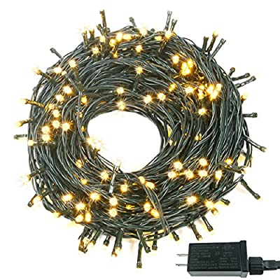 95FT 240 LED Christmas String Lights (Extra-Long & Ultra-Bright), Upgraded 8 Modes Christmas Tree Lights, Indoor Outdoor Plug in String Lights for Wedding Party Holiday (Warm White)