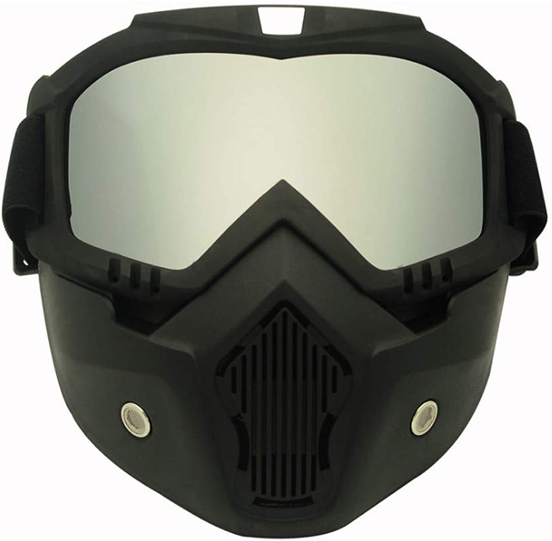 Men Women Professional Snowboard Snowmobile Goggles Snow Winter Windproof Skiing Glasses Motocross Sunglasses Face Mask (color   C05 SILVER)