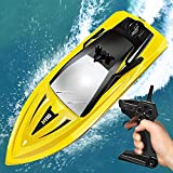 RC Boats for Kids and Adults, Gifts for Kids Boys Girls, Outdoor Water Kids Toys, Mini Remote Control Boats for Pools Lakes Backyard, Fun RC Toys for Kids, Long Battery Life, 2.4GHz Speedy RC Boats