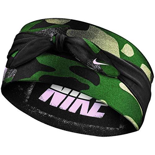Nike Unisex– Erwachsene Bandana Head Tie Kopfband, Club Gold/Black/pink Foam, One Size
