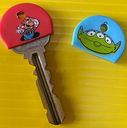 マリオ・リトルグリーンメン キーケース 鍵カバー キーキャップ 2種類セット