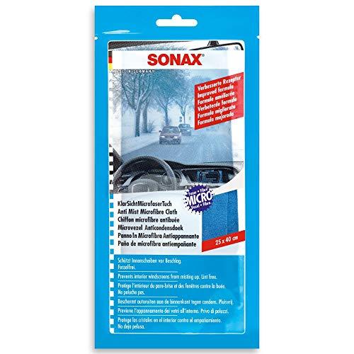 SONAX KlarSicht MicrofaserTuch (25 x 40 cm) fusselfreies Antibeschlag-Tuch schützt vor Beschlagen der Scheibe und sorgt für eine klare Sicht   Art-Nr. 04212000