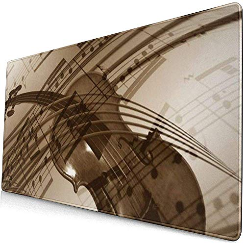 Erweitertes Gaming-Mauspad mit genähten Kanten, rutschfestes, wasserdichtes Mousepad auf Gummibasis für Work & Gaming, Violine LMP-1278