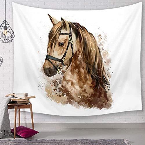 Tapijtwerk,Mandala Dierlijk Paard Muur Opknoping Hippie Strand Gooien Tapijt Maan Reizen Boheemse Stijl Home Art Psychedelische Decoratie -51x59inch (130x150cm)
