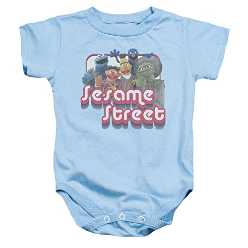 Sesame Street - Grenouillère Groovy Group pour enfant - Bleu - 6 mois