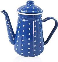 Emaliowany kociołek emaliowany emaliowany dzbanek do kawy, pogrubiony emaliowany dzbanek do herbaty. Pojemność: 1.0L-Ligh...