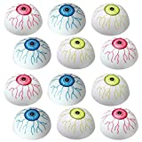 ArtCreativity Eyeball Poppers, Set of 12, Pop-Up Half Ball Toys in Assorted Colors, Old School Retro 90s Toys for Kids, Creepy Birthday Party Favors, Halloween Goodie Bag Fillers for Boys and Girls