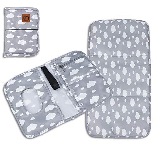 Daiozone 2in1 Wickeltasche & Wickelunterlage für unterwegs - wasserfeste Wickelauflage inkl. Tasche mit Fächern für Windeln, Feuchttücher & mehr