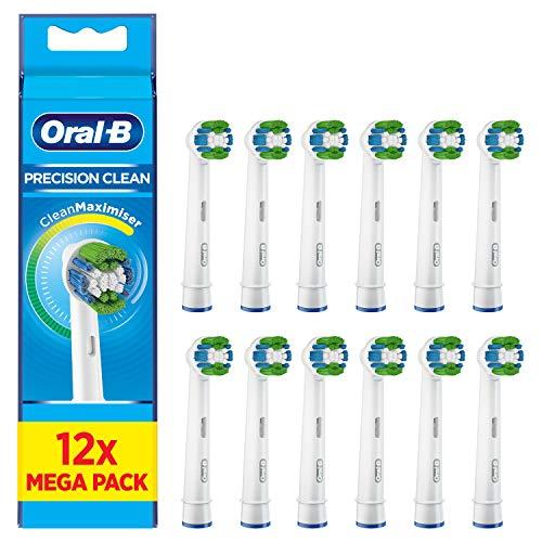 Oral-B Precision Clean Ersatz-Zahnbürstenkopf mit CleanMaximizer-Technologie, 12 Stück