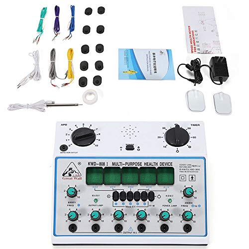 KWD808-I Electric Acupuncture Stimulator Machine Massager Health Device 6 Output Patch Care Massager 110V Pulse Electrotherapy Acupuncture Instrument 500-1000hpa