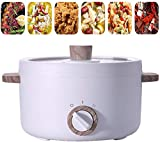 XJIANQI 1.5L Sartén eléctrica portátil para freír eléctrico Pan Mini Electric Wok Cocinar Ollas eléctrico pequeño Antiadherente Hot Pot para Dormitorio de la Escuela Home of