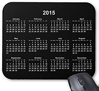 Black And White 2015 Calendar Mouse Pad 7x9 Inches Designed by an Palmer