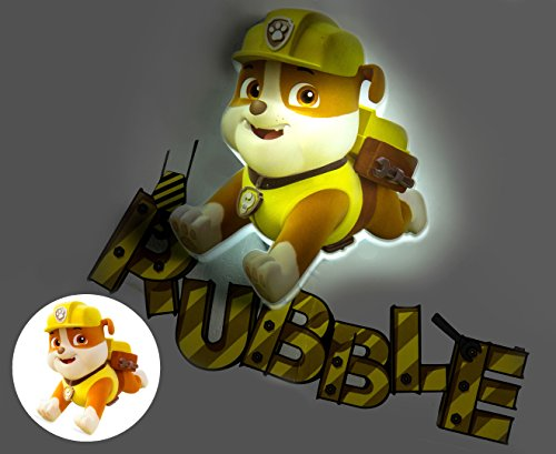 "Light 3DLIGHTFX Mini-Lampe, Design ""Rubble"" aus ""Paw Patrol"""