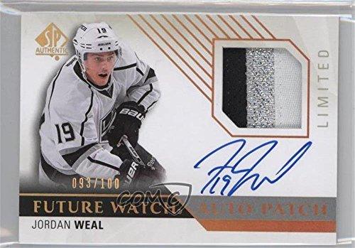 Jordan Weal #93/100 (Hockey Card) 2015-16 SP Authentic - [Base] - Limited Autographed Patches [Autographed] [Memorabilia] #284