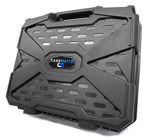 casematix FPV Drone Quadcopter Bolsa Estuche de Viaje con Espuma–Personalizable para Eachine Racer 250FPV Drone W/Accesorios en, Pilas, hélices, Marco Armas, receptores y más Compacto Accesorios